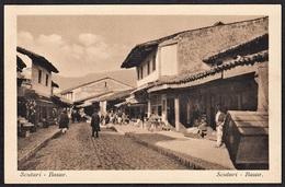 ALBANIEN SCUTARI BAZAR STRASSENLEBEN 1915 - Albanië