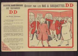 """Buvard ( 21 X 12.5 Cm ) """" Bas Et Socquettes DD """" ( Pliures, Déchirure ) - Textilos & Vestidos"""