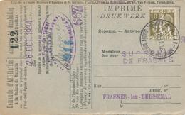 593/30 - Carte Caisse D' Epargne TP Cérès ATH 1934 - Vers La Sucrerie De FRASNES Lez BUISSENAL - 1932 Cérès Et Mercure