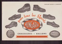 """Buvard ( 21 X 13.5 Cm ) """" Hungaria """" Chaussures, Ballons ( Pliures, Rousseurs ) - Zapatos"""