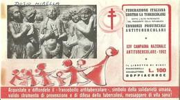 """6062 """" ERINNOFILI-XXV CAMPAGNA NAZIONALE ANTITUBERCOLARE-1962-LIBRETTO DI 10 FRANCOBOLLI"""" - Vignetten (Erinnophilie)"""