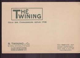 """Buvard ( 21 X 13.5 Cm ) """" Thé Twinning """" ( Pliure ) - Café & Thé"""