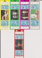 COLLECTION : Ticket Baseball TEXAS RANGERS - CALIFORNIA ANGELS 27/09/1984 MLB Major League Baseball - Tickets D'entrée