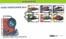 Nfh195fb TRANSPORT OUDE AUTO CLASSIC CAR ALTE AUTOS VOITURES CLASSIQUES ARUBA 2014 FDC - Cars