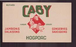 "Buvard ( 18.5 X 10.5 Cm ) "" Caby Hogporc "" ( Pliure ) - Alimentaire"