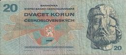 TCHECOSLOVAQUIE 20 KORUN 1970 VF P 92 - Cecoslovacchia