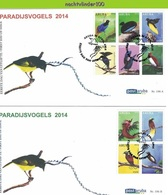 Nfh196A+Bfb FAUNA PARADIJSVOGELS PARADISE BIRDS VÖGEL AVES OISEAUX ARUBA 2014 FDC'S - Birds
