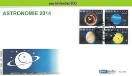 Nfh198fb STERRENKUNDE ASTRONOMIE PLANETEN MERCURIUS SATURNUS JUPITER PLANETS ASTRONOMY ARUBA 2014 FDC - Astronomy