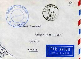 FIGUIO  (Maroc) - Lettre En Franchise Militaire -1956 - Algérie (1924-1962)
