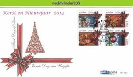 Nfh201fb KERSTMIS OUD EN NIEUWJAAR CHRISTMAS NEW YEARS EVE ARUBA 2014 FDC'S - Christmas