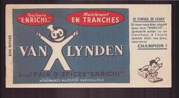 """Buvard ( 20 X 9 Cm ) """" Pain D'épices Van Lynden """" ( Pliures ) - Gingerbread"""