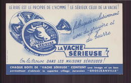 """Buvard ( 17.5 X 10.5 Cm ) """" La Vache Sérieuse """" ( Pliure ) - Leche"""