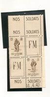FRANCHISE MILITAIRE  1940 INFANTERIE - Militärpostmarken