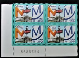 Vends Sous La Faciale Bloc De 4 Timbres Neufs** N°3292 De France Année 1999 - Unused Stamps