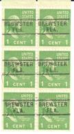 USA Pre Cancel Brewster - Brewer, Beer, Ale - Stamps