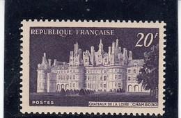 France - 1952 - N° YT 924** - Château De Chambord - Unused Stamps