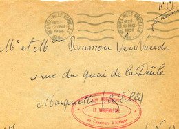 MEKNES-VILLE-NOUVELLE (Maroc) - Lettre En Franchise Militaire - 1956 - Maroc (1891-1956)