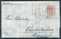 1873 GB Newcastle Quayside 545 Duplex, Richter & Co Entire - Charlottenberg Sweden. PKXP Railway. SG 141 Plate 16 - Storia Postale