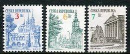 CZECH REPUBLIC 1994 Towns Definitive New Values MNH / **.  Michel 35, 52, 60 - Tchéquie
