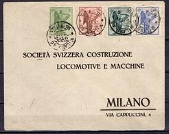 Italie YT N° 113/116 Oblitérés Sur Lettre Entière. B/TB. A Saisir! - 1900-44 Victor Emmanuel III.