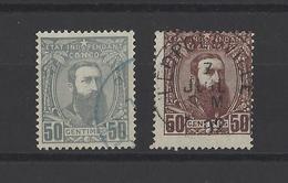 CONGO BELGE.  YT  N° 9-10  Obl  1887 - Belgisch-Kongo