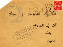 FERIANA (Tunisie) - Lettre En Franchise Militaire - 1956 - Tunisie (1888-1955)
