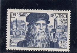 France - 1952 - N° YT 929** - Léonard De Vinci - Francia