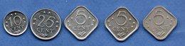 Antilles Néerlandaises /  Lot De 5 Monnaies - [ 4] Colonies