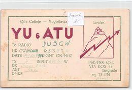 QSL Cards - Yu 6 ATU - YU6ATU - Lovéen - Belgrad - Yugoslavia - Qth: Cetinje - Radio Amatoriale
