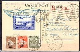 Algérie Belle Carte Recommandée De 1930 Premier Vol, Tirage Limité. Départ Retardé. B/TB. A Saisir! - Algérie (1924-1962)