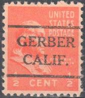 USA Pre Cancel Gerber - Tanner - Leather - Stamps