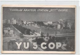 "QSL Cards - Yu 5 COP - YU5COP - Yugoslavia - Yugoslav Amateur Station ""PTT"" Skopie - Radio Amatoriale"