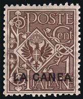 Levante - LA CANEA (Creta): Francobollo D' Italia 1901/05 - 1 C. Bruno - 1905 - Oficinas Europeas Y Asiáticas