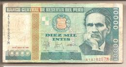 Perù - Banconota Circolata Da 10.000 Intis P-140a - 1988 #18 - Perú