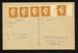 MAURY N°683 DULAC EN BDE DE 4 + 1 S/CPI DU 6/8/1945 - 1944-45 Marianne De Dulac