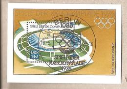 DDR - Foglietto FDC Michel Block 46: Olimpiadi Di Montreal - 1976 *G - Estate 1976: Montreal