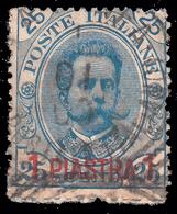 Levante - LA CANEA (Creta): Francobollo D' Italia 1893 (62) - 1 Pi Su 25 C. Azzurro - 1900 - Oficinas Europeas Y Asiáticas