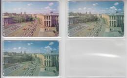 UKRAINE 1998 KIEV KHRESHCHATYK STREET 3 DIFFERENT CARDS - Ukraine