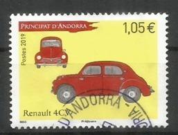 ANDORRA. Renault 4CV, Année 1947.  Un  Timbre Oblitéré 1 ère Qualité.  Année 2019. - Oblitérés
