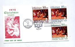 Lettre Fdc 1972 Noel - Filippijnen