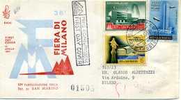 1958 SAN MARINO FDC 10° Part. Fiera Di Milano - FDC