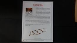 Belgique 2000 : FEUILLET D'ART EN OR 23 CARATS.Timbre Numéro 2878 - Belgique