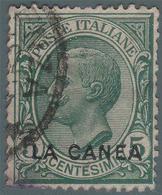 Levante - La Canea (Isola Di Creta): Francobollo D' Italia 1906/09 - 5 C. Verde - 1907 - 11. Oficina De Extranjeros