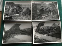 5 Photos Ponts Détruits Et Mines Campagne De France 1940 12 X 9 Cm - 1939-45