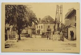 C. P. A. : 19 ALLASSAC : Route De Garavet, Passage à Niveaux, Animé - Autres Communes