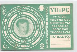QSL Cards - YU1PC - YU 1 PC - Yugoslavia - Beograd - Serbia - SRJ Box 48  - 1954 - Radio Amatoriale