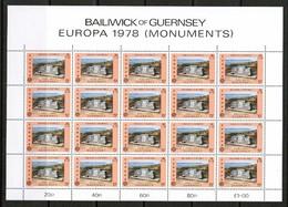 GUERNSEY    Scott  # 161-2** VF MINT NH SHEETS Of 20 (FF-48) - Guernsey