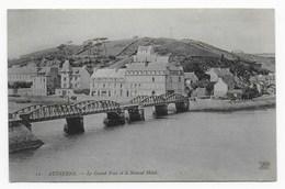 Audierne  (Finistère)  -  Le Grand Pont Et Le Nouvel Hôtel - Audierne