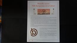 Belgique 2000 : FEUILLET D'ART EN OR 23 CARATS.Timbre Numéro 2882/84 - Belgique
