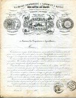 44.NANTES.DOC.TARIF.MACHINES LOCOMOBILES A VAPEUR & A MANEGE POUR BATTRE LE GRAIN.LOTZ FILS AINE.1856. - Agriculture
